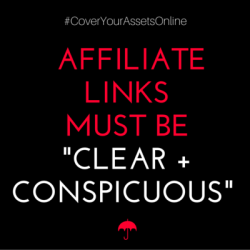 how to disclose affiliate links on your website
